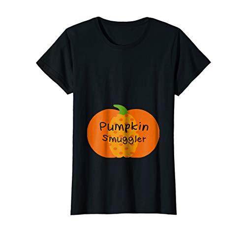 Womens Halloween Pregnancy Pumpkin Smuggler Cute Shirt