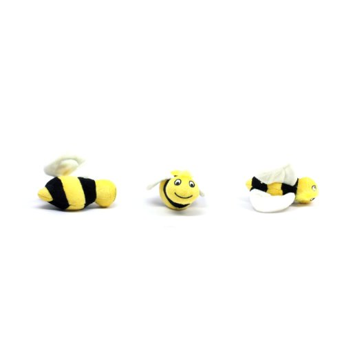 Outward Hound Kyjen  31014 Squeakin' Animals Hide-A-Bee Replacement Dog Toys Squeak Toys 3-Pack, Large, Multicolor