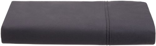 Calvin Klein Flat Sheet (Calvin Klein Home Solid Double Row Cord Percale Queen Flat Sheet, Nightingale)