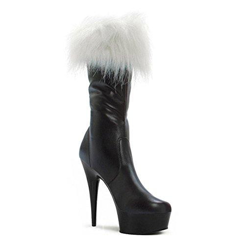 Botas SCH 35 Rojo larga mujeres Navidad Super Potencia high Dance heels 2 Cristal ¨ 5 pl Noche Guantes Negro ¹ 45 Club Piel wgq7CR54cq