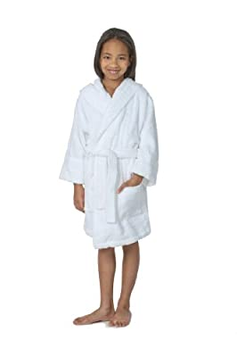 THIRSTY Towels Hooded Children's Turkish Terry Robe for Boys and Girls