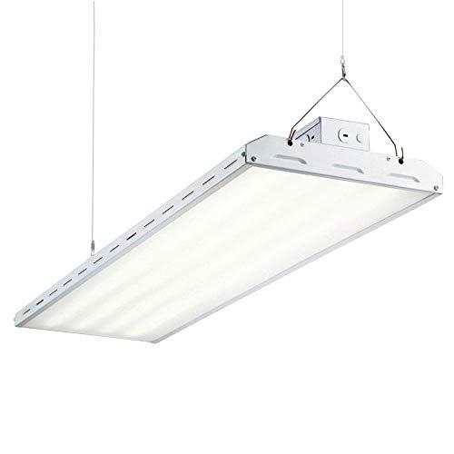 AntLux 4FT LED Linear Integrated Bay Light Fixture - 220W (800W Equiv.), 26500lm, 5000K, Dimmable, Hanging Warehouse Lights, Industrial Indoor Area Workshop Garage High Bay LED Lighting ()