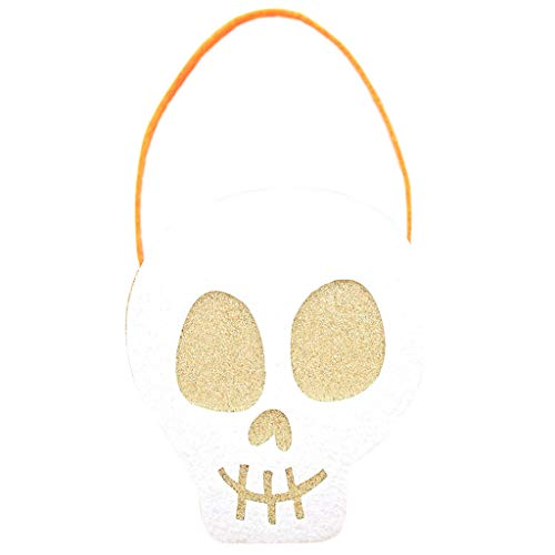 Qupida Colorful Halloween Bag Candy Gift Bags Pumpkin Trick Treat Bags Bags Gift for Children Party Event Decor -