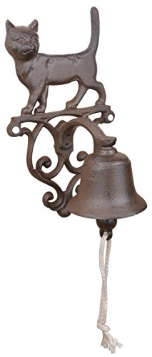 Esschert Design DB82 Rustic Cast Iron Doorbell Cat