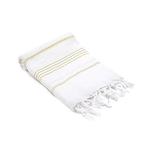 Olive&Linen Datca Turkish Hand/Kitchen Towel, Gold