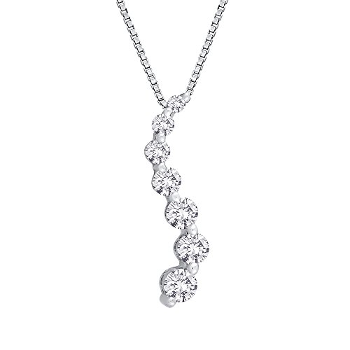 Pendant Seven Prong Diamond Journey - Diamond
