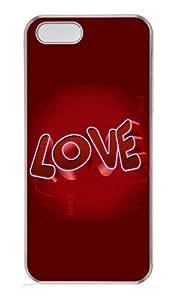 3D Love Polycarbonate Plastic Hard Case For Iphone 5/5S Cover and Case For Iphone 5/5S Cover Transparent