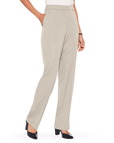 Pendleton Women's Seasonless Wool Straight Leg Pants, Sandstone, ()