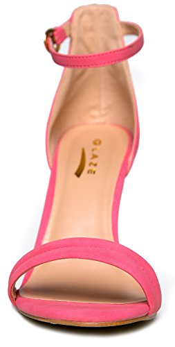 J Womens Sandal Dress by High Pump Basic Heel Wedding Pink Strap Marvel Adams Ankle Low Heel Party fHfn460q