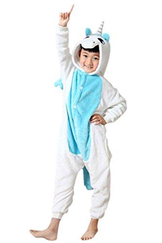 Unicorn Onesie Kids –FeelMeStyle Unisex Onesies Pajamas Kigurumi Cosplay Sleepsuit Costume Animal Jumpsuit