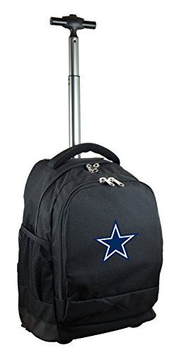 NFL Dallas Cowboys Expedition Wheeled Backpack, 19-inches, Black