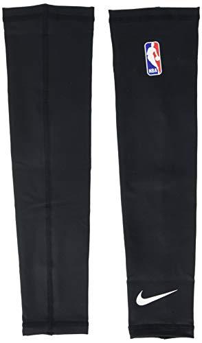 (Nike NBA Shooter Sleeve - Pair(Black/White, LXL) )