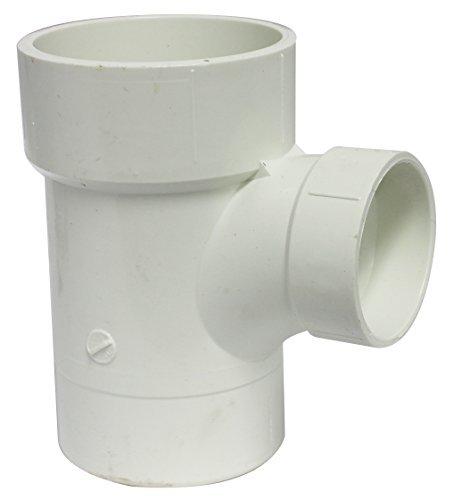(Canplas 195130L PVC DWV Sanitary Tee, 3 x 3 x 2-Inch, White)