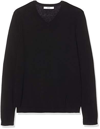 (find. Men's Cotton V-Neck Sweater,  Black, XXL (US XL))