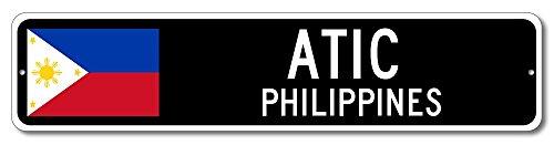Philippine Flag Sign - ATIC, PHILIPPINES - Filipino Custom Flag Sign - 6