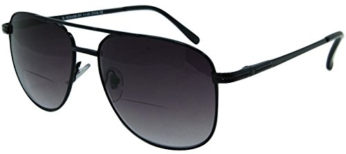 In Style Eyes Chillin' Aviator Bifocal Sunglasses Black 3.00