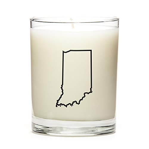 - Personalized State Outline Candle, State Gift, College Gift, State Candle Made with Premium Soy Wax, Reusable 11 Ounce Glass Jar - Fresh Linen