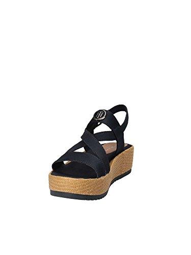 Rwb 36 Hilfiger Zapato Flatform T Noir Casual Tommy qYIwO8