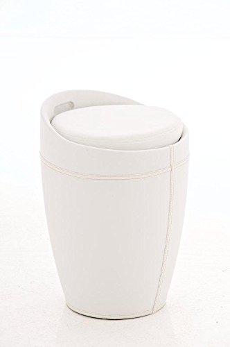 Hocker mit stauraum weiß  Sitzhocker CP206, Hocker mit Stauraum ~ weiß: Amazon.de: Küche ...