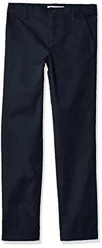 Amazon Essentials Girl's Slim Uniform Chino Pants, Navy Blue, 10(S) (Uniform Navy Pants Blue Girls)
