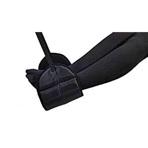 Sleepy Ride – Airplane Footrest Made with Premium Memory Foam – Airplane Travel Accessories – Tested and Proven to Prevent Swelling and Soreness – Provides Relaxation and Comfort (Jet Black)