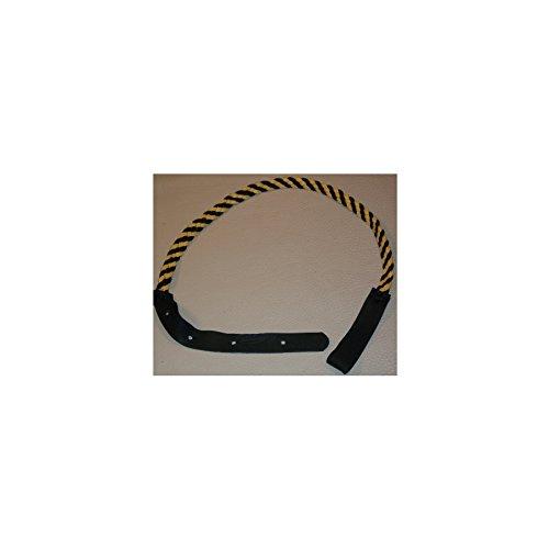 Lakota Leathers LK-FBG Mandolin Strap - Flat Braided - 43in Black & Gold