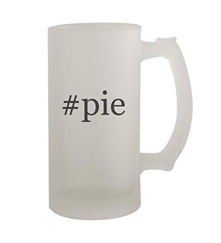 Frosted Pie Server - #pie - 16oz Sturdy Hashtag Glass Frosted Beer Stein