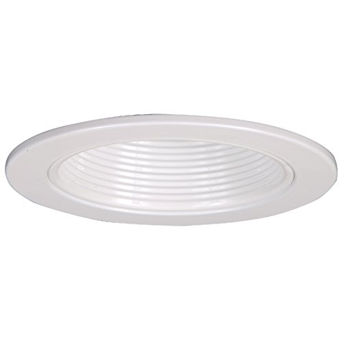 HALO 4013WB Recessed Self-Flanged White Trim with White Baffle, 3