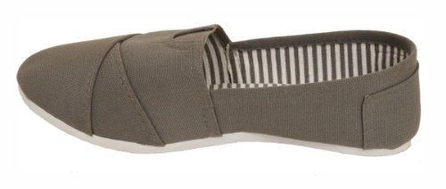 Free Dona Michi Womens Canvas Slip on Shoes