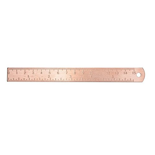 Chris.W 6 Inch Brass Ruler - Durable Ruler in Multi Use, Good for Journal, Planner and Diaries - Rose ()
