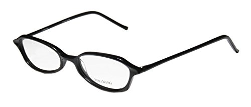 Vera Wang V38 Womens/Ladies Designer Full-rim Eyeglasses/Glasses (49-17-135, Black)