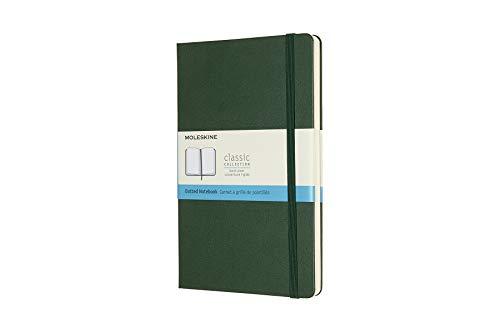 Moleskine Notebook, Large, Dotted, Myrtle Green, Hard (5 x 8.25)