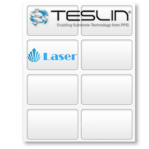 Teslin Synthetic Paper- for Laser Printers - Micro-Perforated 8-up - 10 mil | 10 Sheets by easyIDea