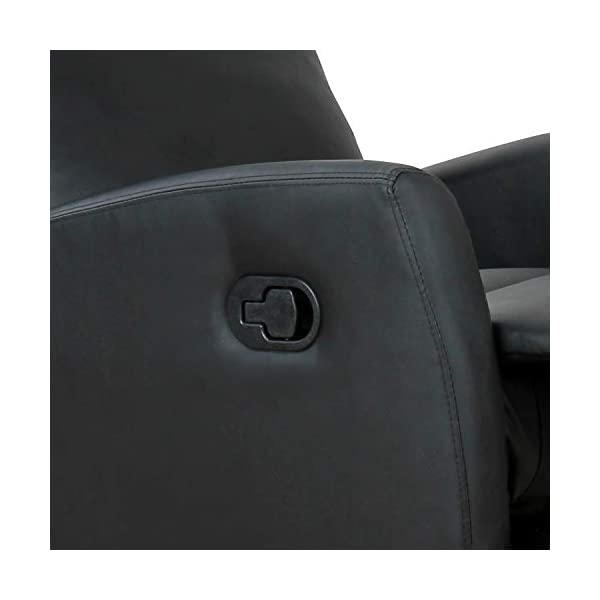 HOMCOM Fauteuil de Relaxation inclinable 180° avec Repose-Pied Ajustable revêtement synthétique Noir