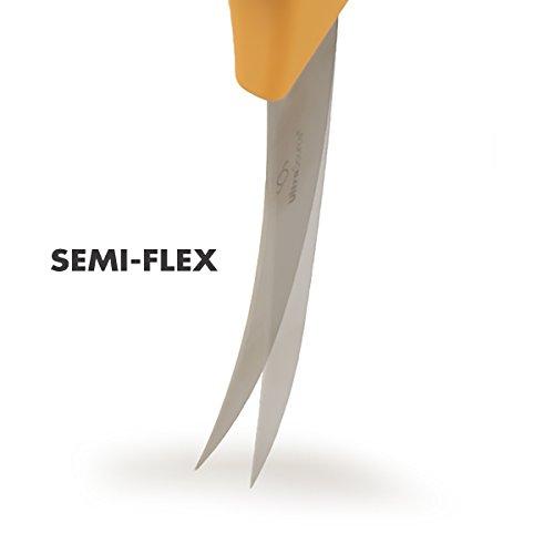 """UltraSource Boning Knife, 5"""" Curved/Semi-Flexible Blade, Polypropylene Handle Salted Salad"""