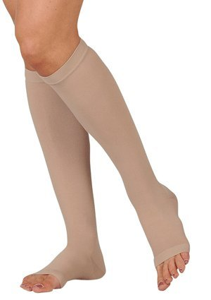 Juzo Basic Knee High Short Open Toe 30-40mmHg, II, beige (40 Mmhg Beige Short)