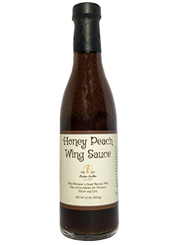 Honey Peach Wing Sauce - Blended in Small Batches with Farm Fresh Herbs for Premium Flavor and ()