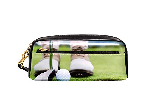 004 Golf - Golf 004 Big Capacity Oxford School Pencil Case Pen Bag Pouch Stationary Case with Double Zippers for Boys Girls Kids 8.1x2x3.3in