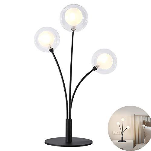 Lámparas de Escritorio Esfera de Tres Cabezas Moderna Minimalista romántica de Gama Alta Luz Dormitorio de Lujo Junto a la...