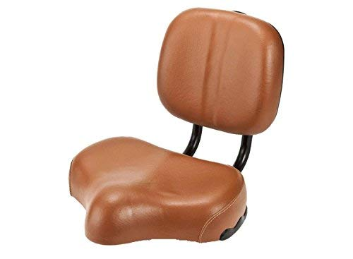 Micargi Bicycle Seat with Backrest, Brown - bike seat with backrest