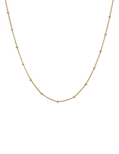 - Fremttly Women Handmade 14k Gold Fill Mini Beads Layered Choker Necklace-CK3-1Bead
