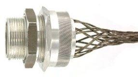 Leviton L7713 3/4-Inch, Straight, Male, Aluminum Body, Deluxe Cord Sealing Strain-Relief, .625 to .750 Cord Range
