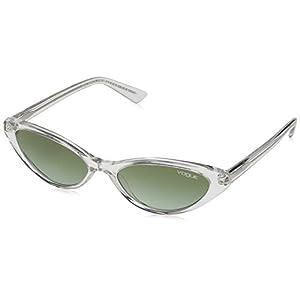 VOGUE Women's Plastic Woman Cateye Sunglasses, Black, 52.0 mm