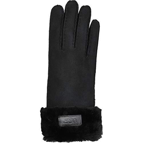 (UGG Women's Turn Cuff Water Resistant Sheepskin Gloves Black MD)