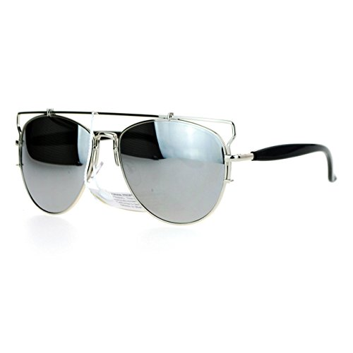 33def82ad40 durable service Womens Designer Aviator Sunglasses Flat Top Bar Metal Frame  Aviators