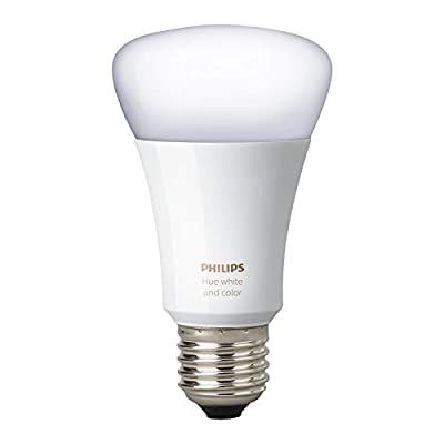 Philips Hue White and Color Ambiance 3rd Generation A19 10W Equivalent Dimmable LED Smart Bulb (Renewed)