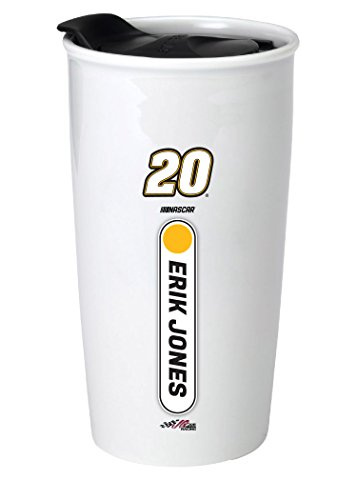 - R and R Imports Erik Jones #20 NASCAR Double Walled Ceramic Tumbler