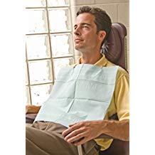 Graham Medical 16171 2-Ply Tissue/Poly Bib, 16.5'' Width, 19'' Length, Mauve (Pack of 500)