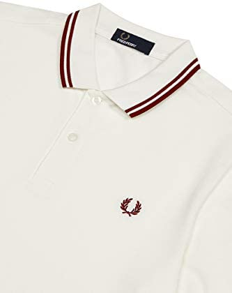 Fred Perry Men's Twin Tipped Polo Shirt M3600 H98 White