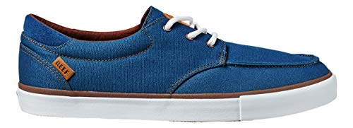REEF Deckhand 3 | Premium Shoes for Men with Classic Styling for Street, Skate, Or Surf Sneaker, Navy/White, 9.5
